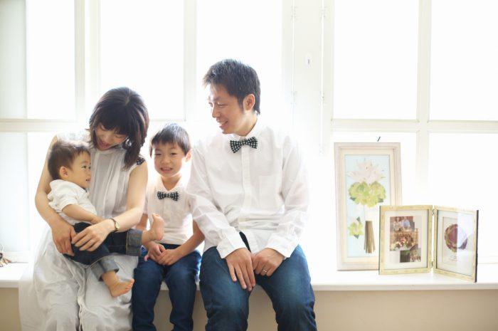 4人家族,写真撮影,家族写真