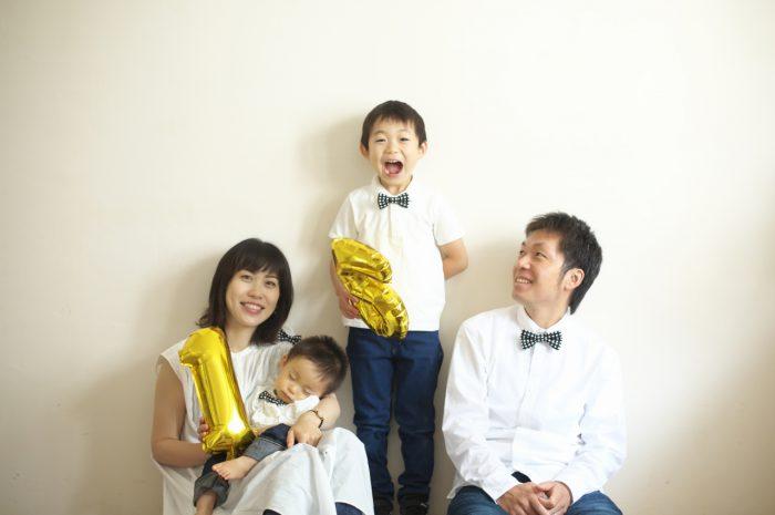 結婚10周年記念,家族写真撮影