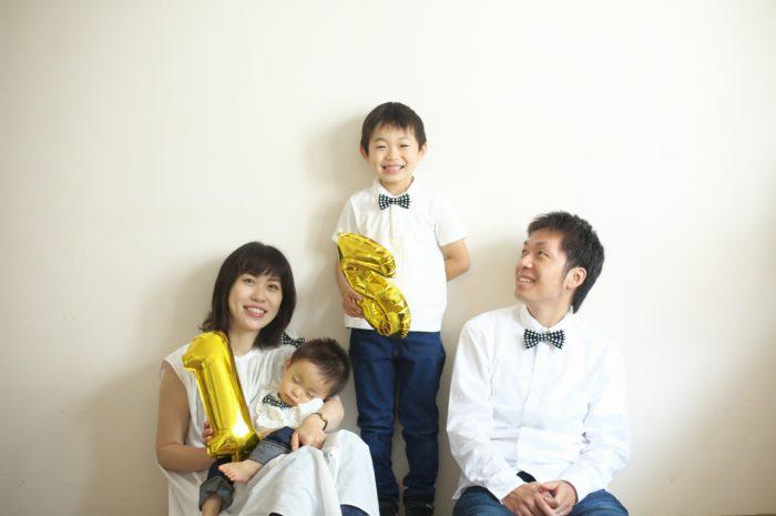 結婚10周年記念,家族写真