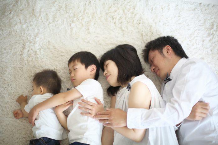 お昼寝撮影,家族写真撮影