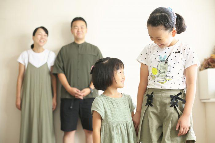 姉妹撮影,体育座り,仲良し,かわいい,渋谷スタジオ