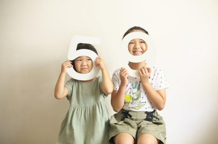 姉妹撮影,スタジオ撮影,5歳,9歳